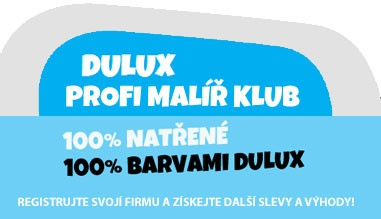 Registrace pro profesionály do DULUX Profi malíř klubu
